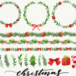 Christmas Green Plant Decoration 2019 Vector