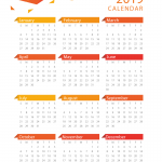 New year calendar 2019 Vector