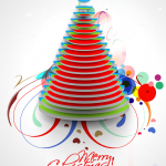 Whirlwind Colorful Disc Christmas Tree 2019 Vector