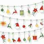 Hanging Christmas Gifts 2019 Vector
