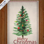 Oil painting Christmas tree 2019 Vector