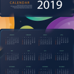 Shock New Year's Calendar 2019 Vector
