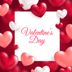 Valentine's Day surrounded by love 2019 Vector
