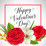 White Valentine's Day 2019 Vector