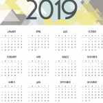 Abstract calendar 2019 Vector