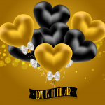 A heart-shaped balloon with a tie 2019 Vector