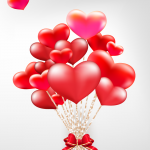 A variety of heart-shaped balloons 2019 Vector