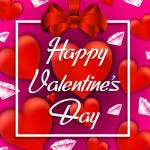 Pink Diamond Valentine's Day 2019 Vector
