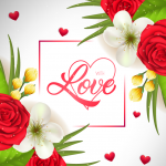 Love of Red Roses 2019 Vector