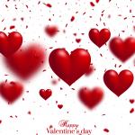 Red heart floats 2019 Vector