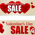 Red Valentine's Day Promotion 2019 Vector