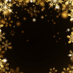 Golden and shining snowflakes 2019 Vector