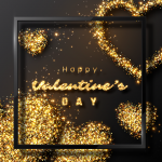 A heart glittering with gold 2019 Vector
