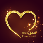 Golden Valentine's Day Expressions 2019 Vector