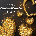 Gold Valentine's Day 2019 Vector