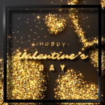 Golden greeting card template 2019 Vector