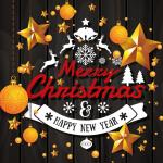 Golden New Year Decoration 2019 Vector