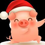 Happy Piglet 2019 Vector