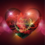 Luminous Roses for Valentine's Day 2019 Vector
