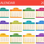 Stereoscopic New Year Calendar 2019 Vector