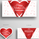 Valentine's Day White Greeting Card Template 2019 Vector