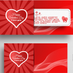 Valentine's Day Radiation Love Template 2019 Vector