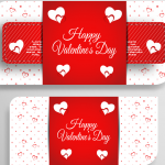 Valentine's Day card template 2019 Vector
