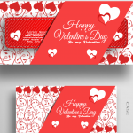 Valentine's Day Flower Branch Template 2019 Vector