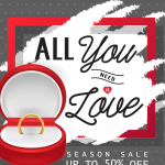 Valentine's Day Ring Gift 2019 Vector