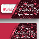 Valentine's Day Cartoon Careful Greeting Card Template 2019 Vector