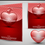 Valentine's Day gift card 2019 Vector