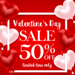 Valentine's Day Balloon Price Reduction Publicity 2019 Vector