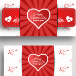 Cupid Arrow Template for Valentine's Day 2019 Vector