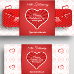 Valentine's Day Cupid Arrow Penetration Template 2019 Vector