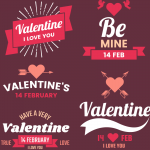 Valentine's Day date 2019 Vector