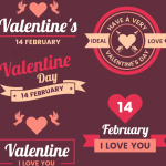 I love your expression on Valentine's Day 2019 Vector
