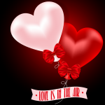 Valentine's Day heart-shaped balloon 2019 Vector