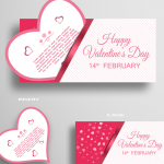 The Modeling of Valentine's Day Card Heart 2019 Vector