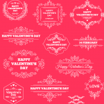 Valentine's Day Decorative Pink Template 2019 Vector