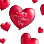 Valentine's Day Decorative Balloon 2019 Vector