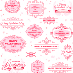 Valentine's Day Decorative Style Template 2019 Vector