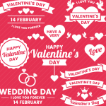 Valentine's diamond ring 2019 Vector