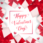 Valentine's Day gifts for celebration 2019 Vector