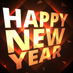 Three-dimensional New Year's greetings 2019 Vector