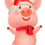 Dancing Happy Piggy 2019 Vector