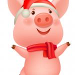 Dancing Happy Piggy 2019 Vector