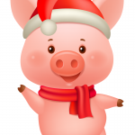 Dancing New Year Piglet* 2019 Vector