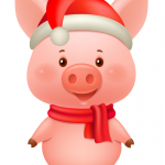 Piglet New Year's Clothes 2019 Vector