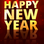 Red Pictures on New Year's Day 2019 Vector