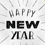 New Year retro pictures 2019 Vector